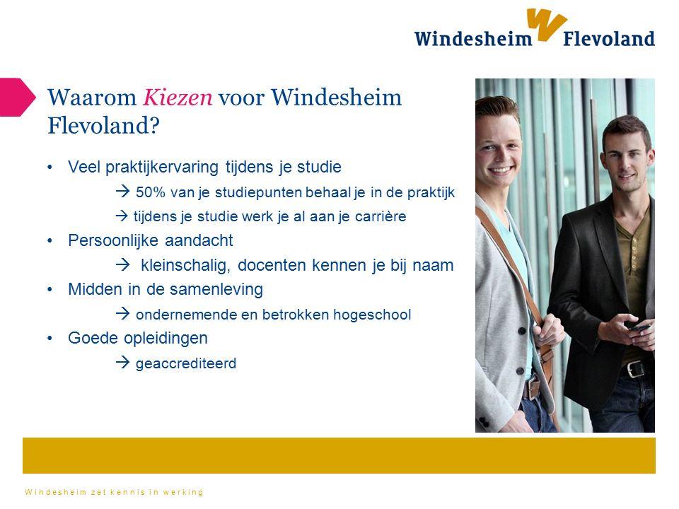 Waarom Kiezen voor Windesheim Flevoland