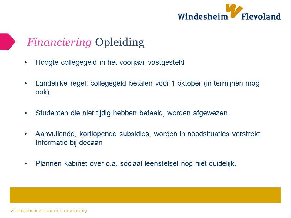 Financiering Opleiding