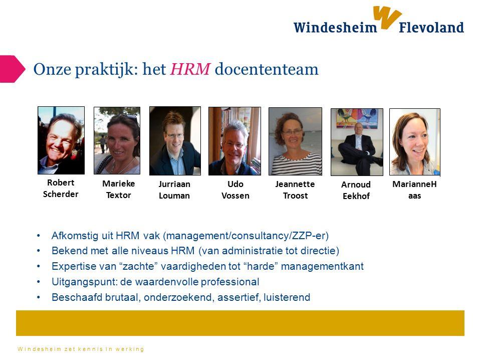 Onze praktijk: het HRM docententeam