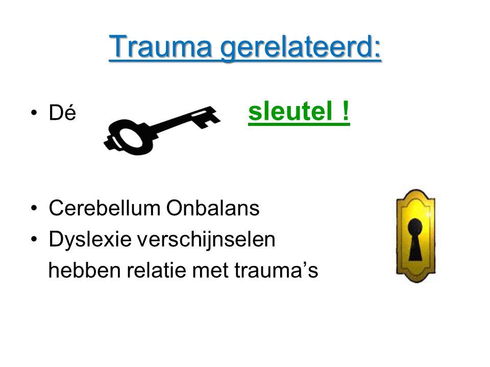 Trauma gerelateerd: Dé sleutel sleutel ! Cerebellum Onbalans