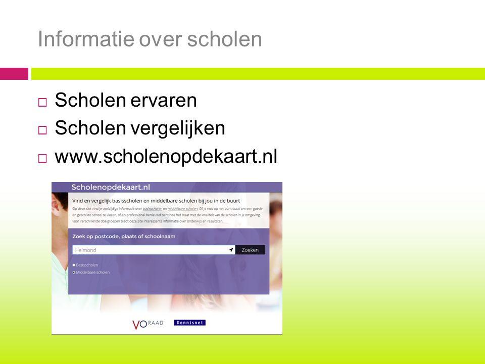 Informatie over scholen