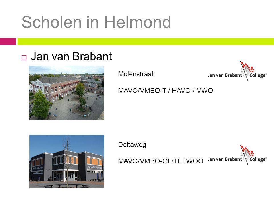 Scholen in Helmond Jan van Brabant Molenstraat