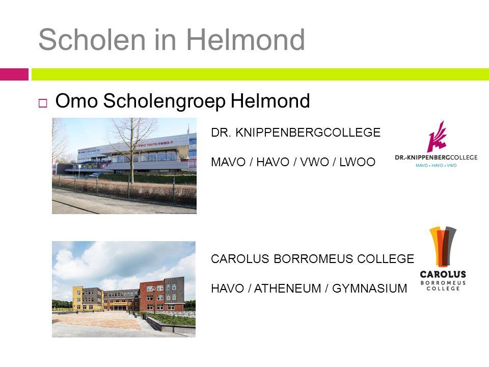 Scholen in Helmond Omo Scholengroep Helmond DR. KNIPPENBERGCOLLEGE