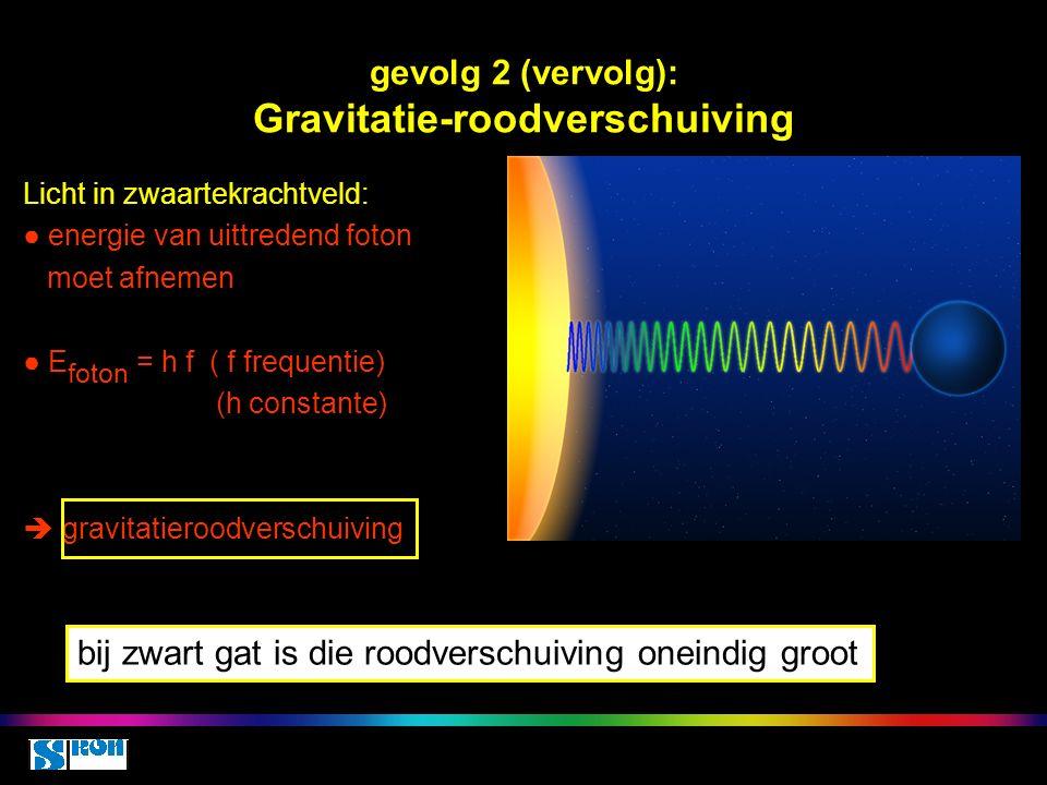 gevolg 2 (vervolg): Gravitatie-roodverschuiving