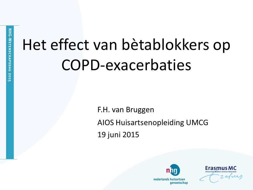 Het effect van bètablokkers op COPD-exacerbaties