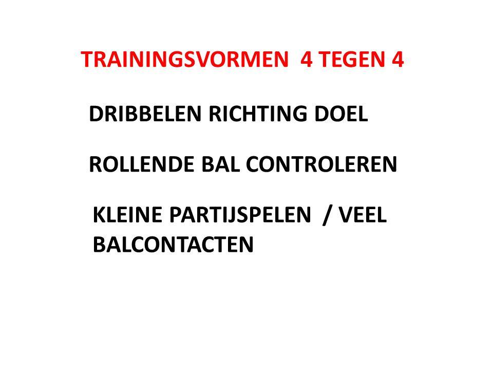 TRAININGSVORMEN 4 TEGEN 4
