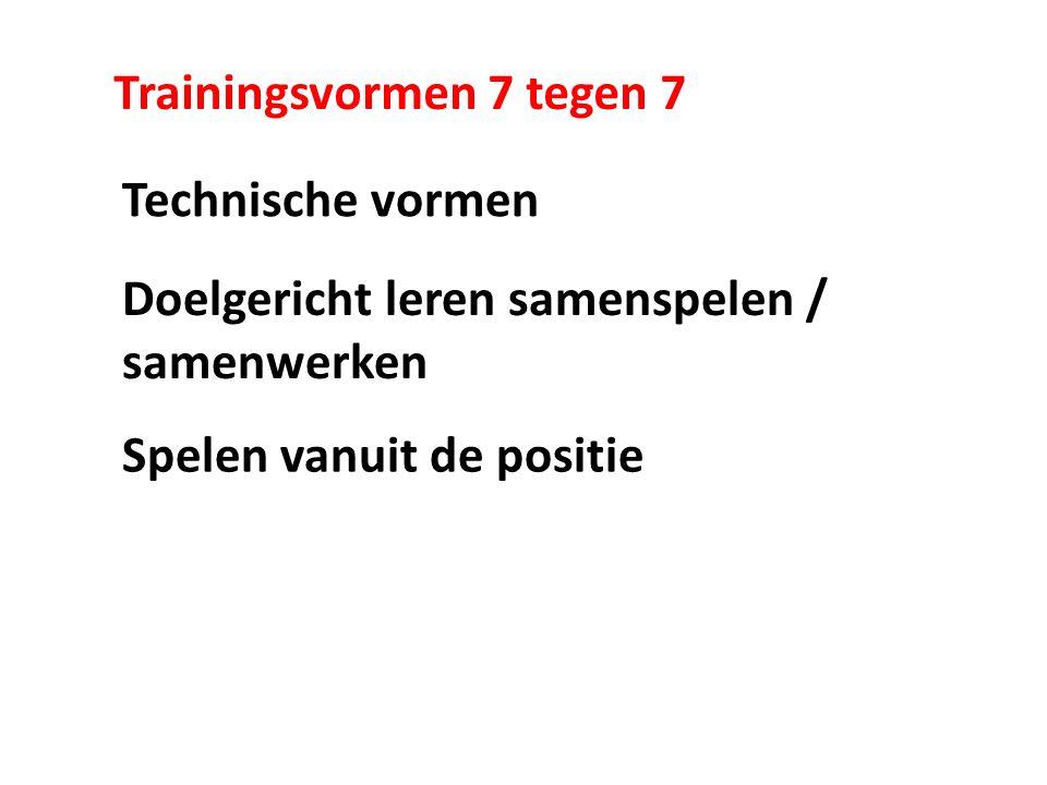 Trainingsvormen 7 tegen 7