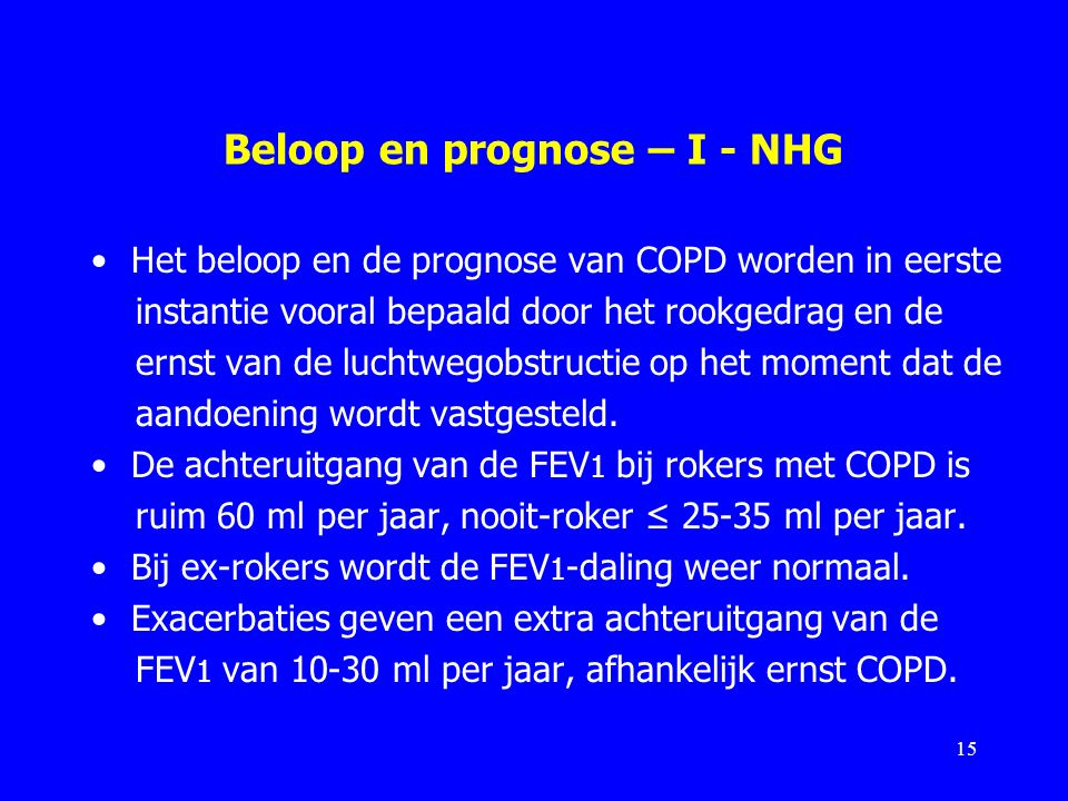 Beloop en prognose – I - NHG