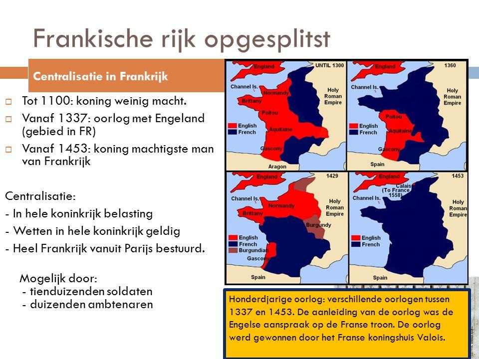 Frankische rijk opgesplitst