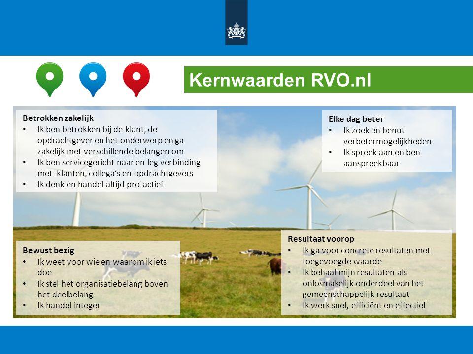 Kernwaarden RVO.nl Betrokken zakelijk