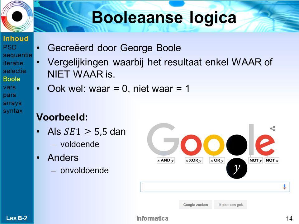 Booleaanse logica Gecreëerd door George Boole