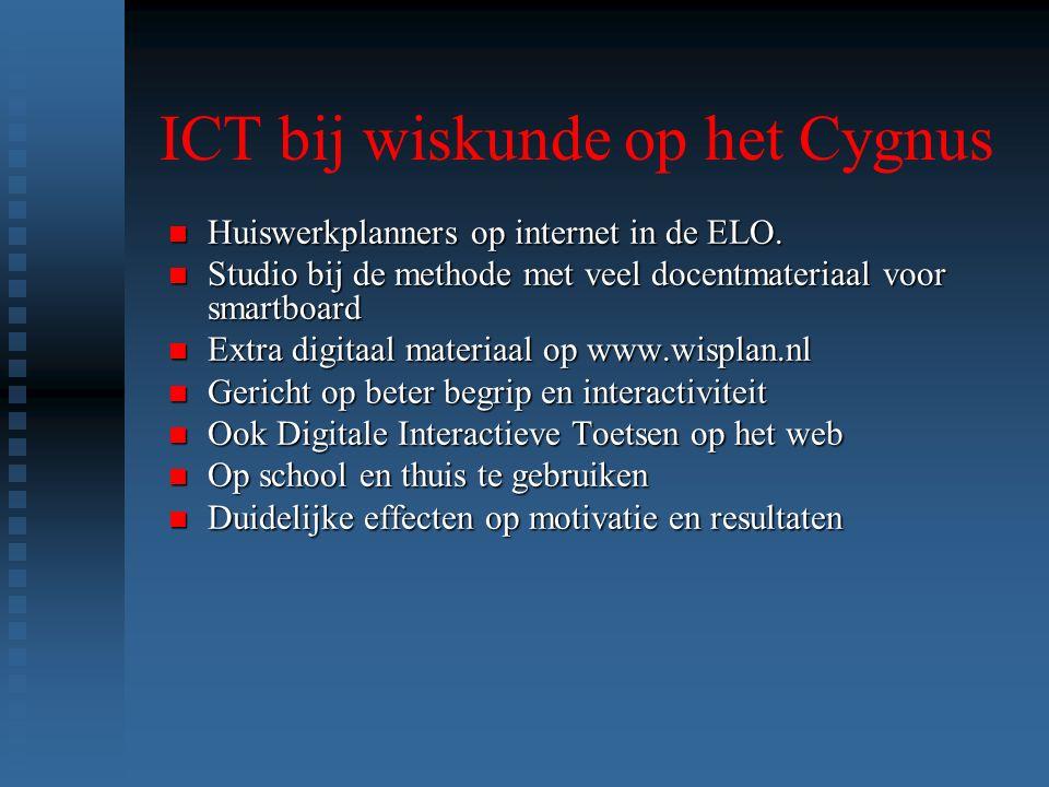 ICT bij wiskunde op het Cygnus