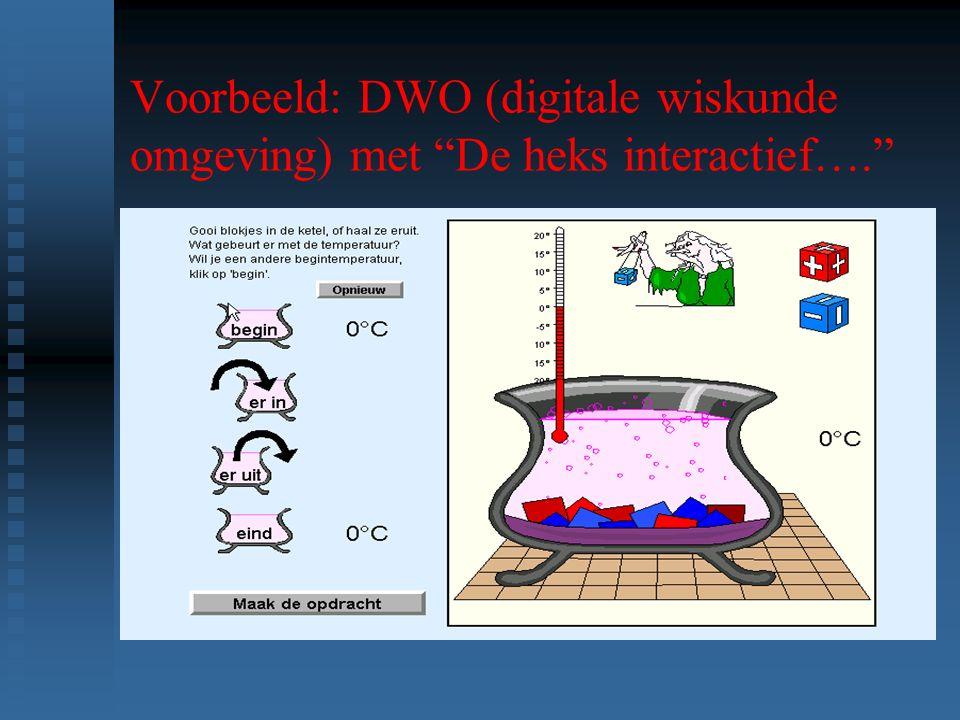 Voorbeeld: DWO (digitale wiskunde omgeving) met De heks interactief…