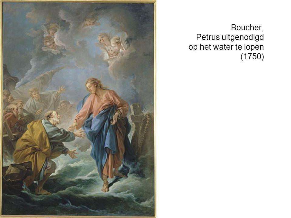 Boucher, Petrus uitgenodigd op het water te lopen (1750)