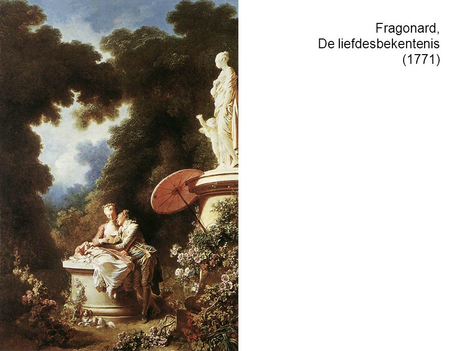 Fragonard, De liefdesbekentenis (1771)