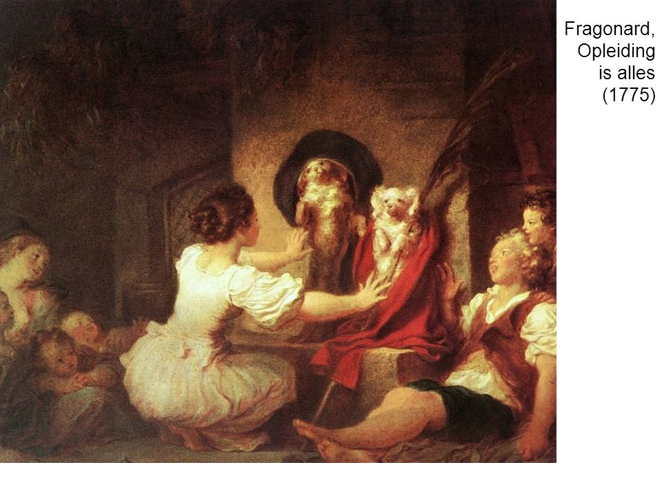 Fragonard, Opleiding is alles (1775)