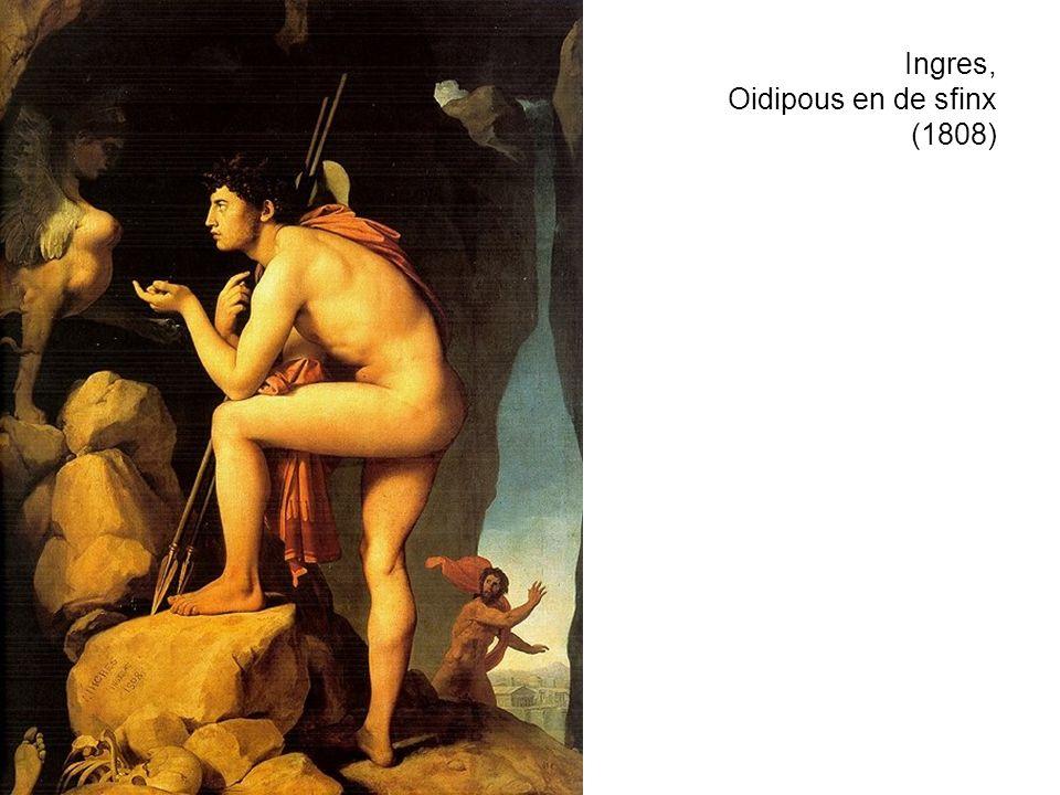 Ingres, Oidipous en de sfinx (1808)