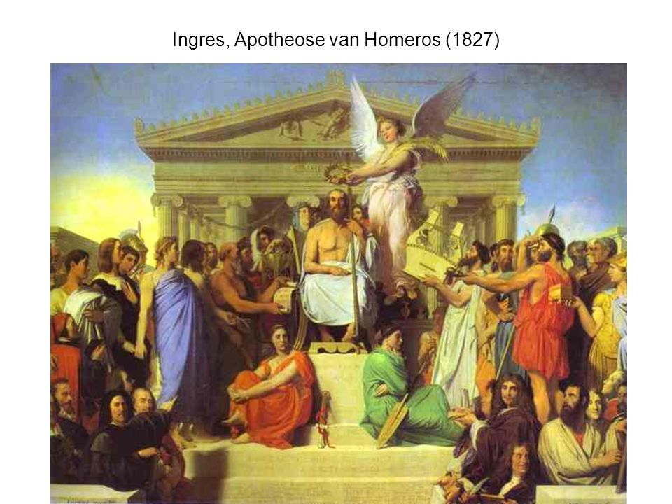 Ingres, Apotheose van Homeros (1827)