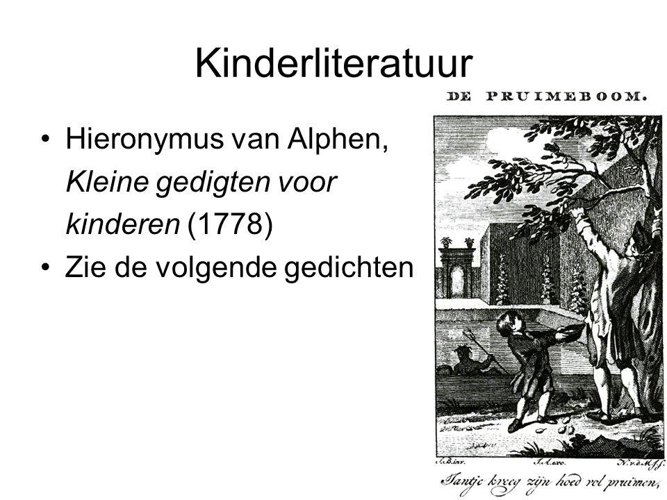 Kinderliteratuur Hieronymus van Alphen, Kleine gedigten voor