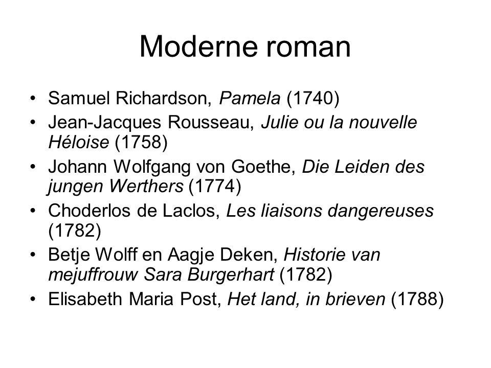 Moderne roman Samuel Richardson, Pamela (1740)