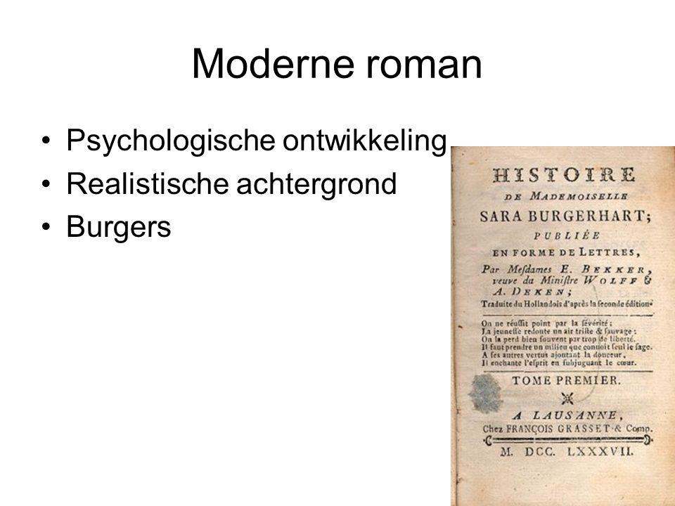 Moderne roman Psychologische ontwikkeling Realistische achtergrond