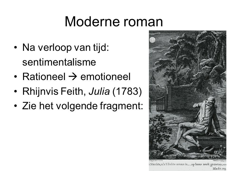 Moderne roman Na verloop van tijd: sentimentalisme