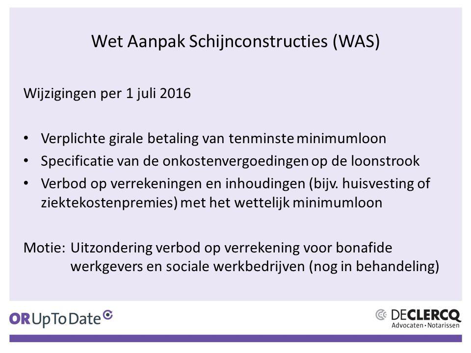 Wet Aanpak Schijnconstructies (WAS)