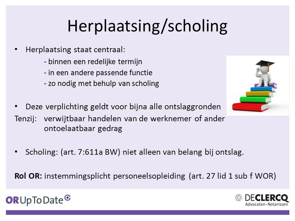 Herplaatsing/scholing