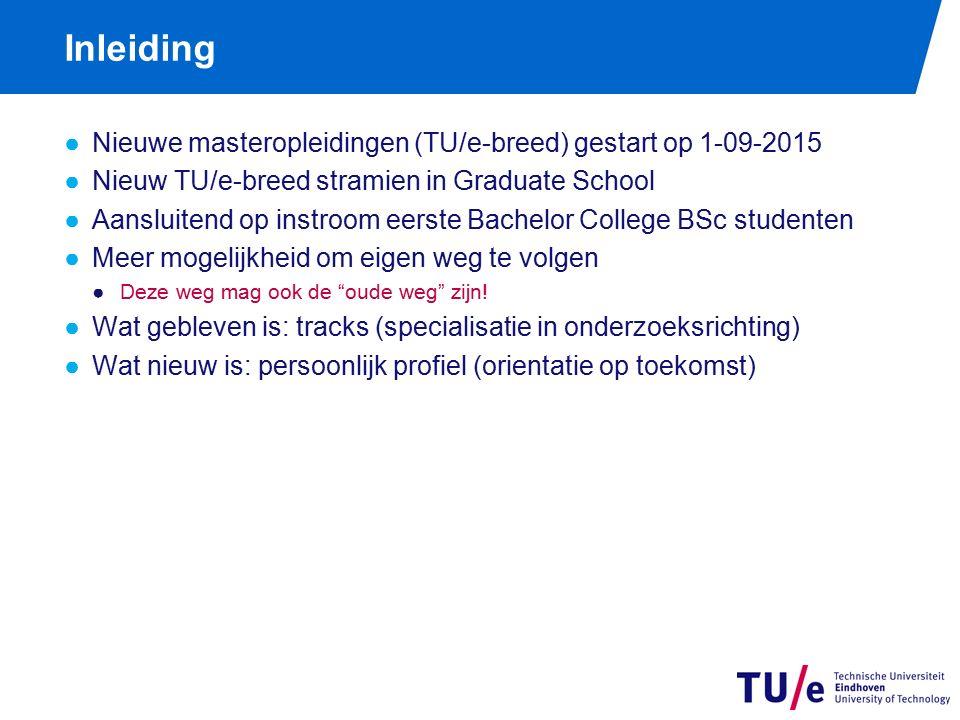 Masteropleidingen / specialisaties (tracks)