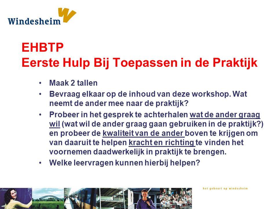 EHBTP Eerste Hulp Bij Toepassen in de Praktijk