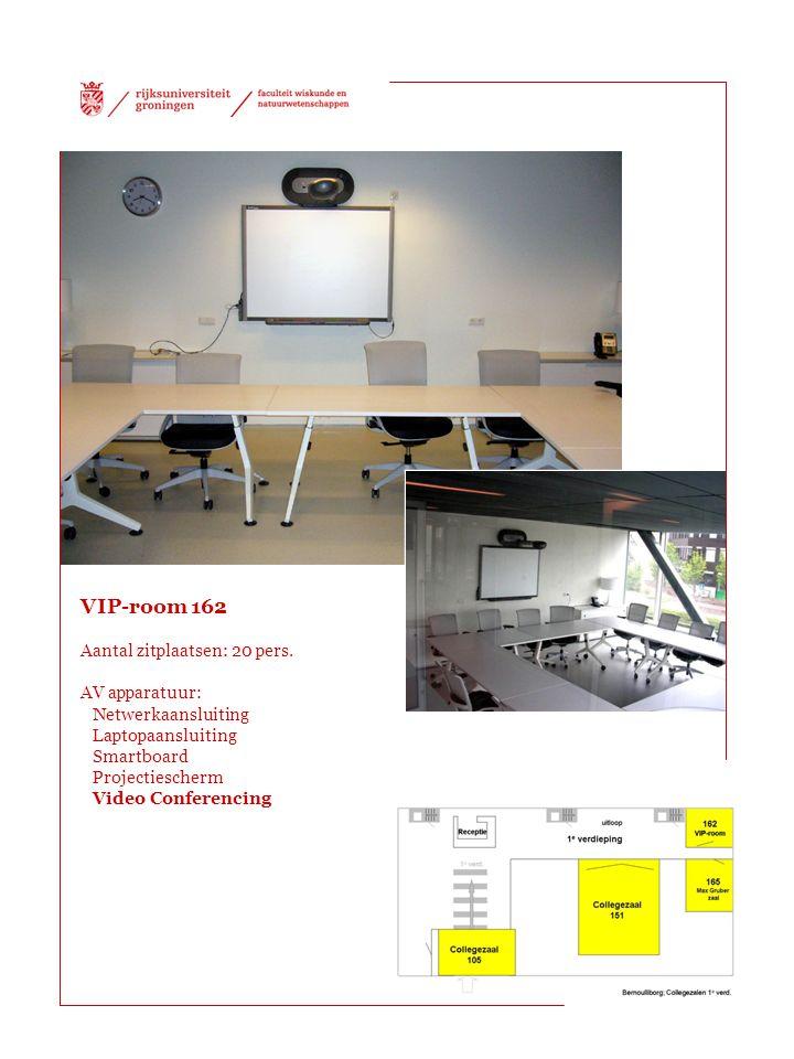 VIP-room 162 Aantal zitplaatsen: 20 pers. AV apparatuur: