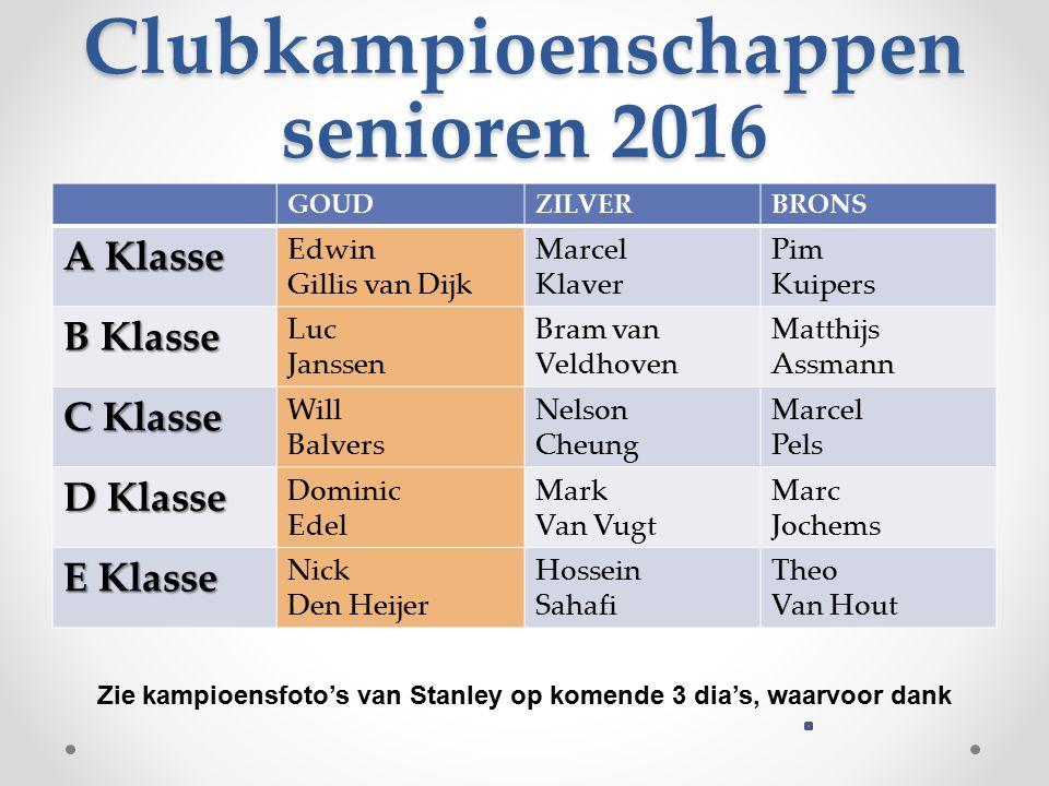 Clubkampioenschappen senioren 2016