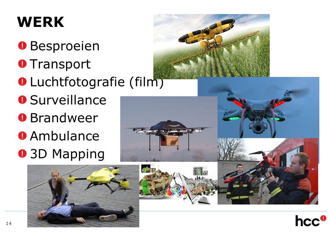 WERK Besproeien Transport Luchtfotografie (film) Surveillance
