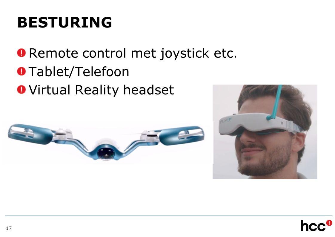 BESTURING Remote control met joystick etc. Tablet/Telefoon
