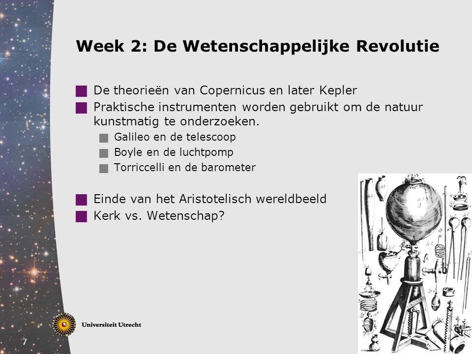 Week 2: De Wetenschappelijke Revolutie