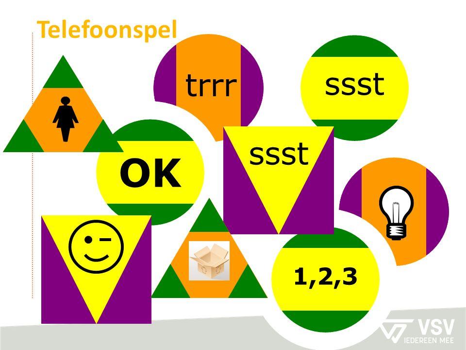 ssst trrr OK 1,2,3 Telefoonspel