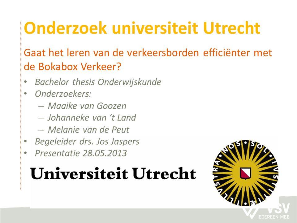 Onderzoek universiteit Utrecht