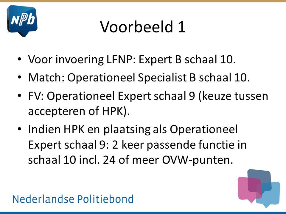 Voorbeeld 1 Voor invoering LFNP: Expert B schaal 10.