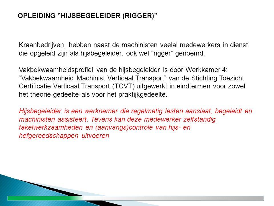 OPLEIDING HIJSBEGELEIDER (RIGGER)