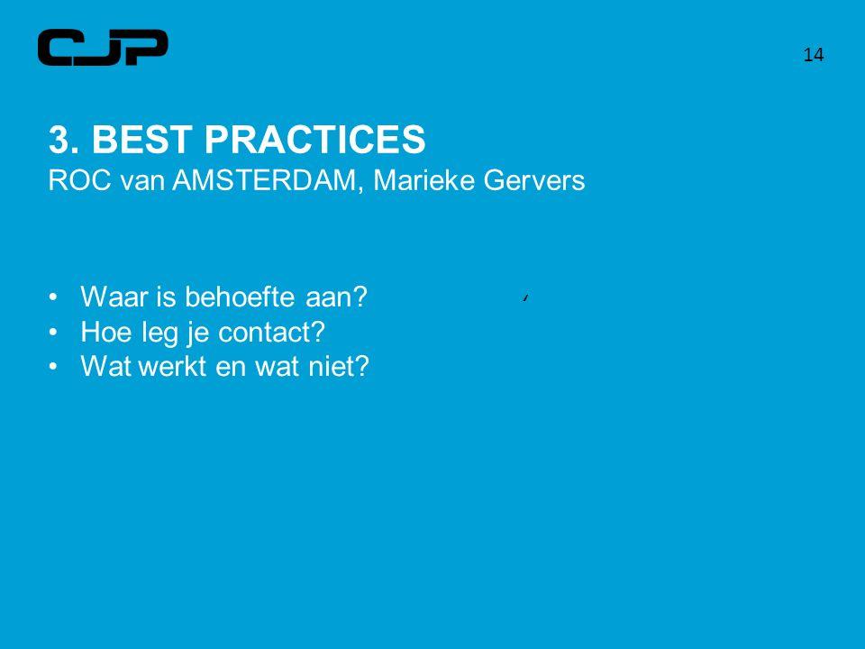 3. BEST PRACTICES ROC van AMSTERDAM, Marieke Gervers