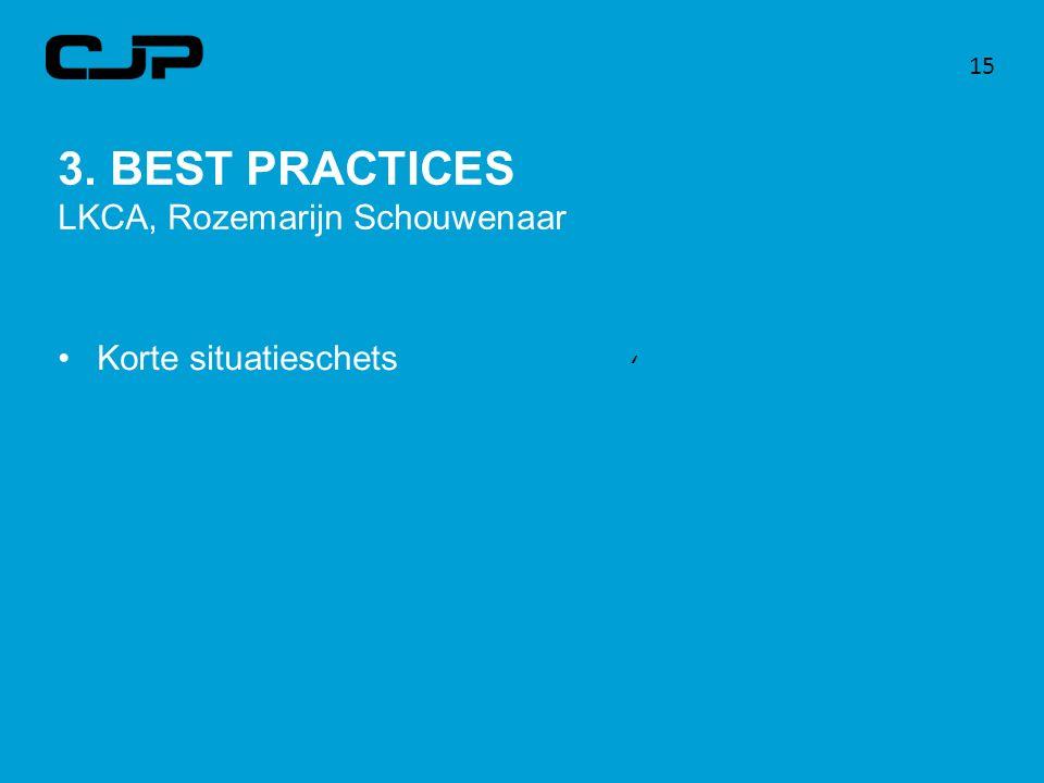 3. BEST PRACTICES LKCA, Rozemarijn Schouwenaar Korte situatieschets 15