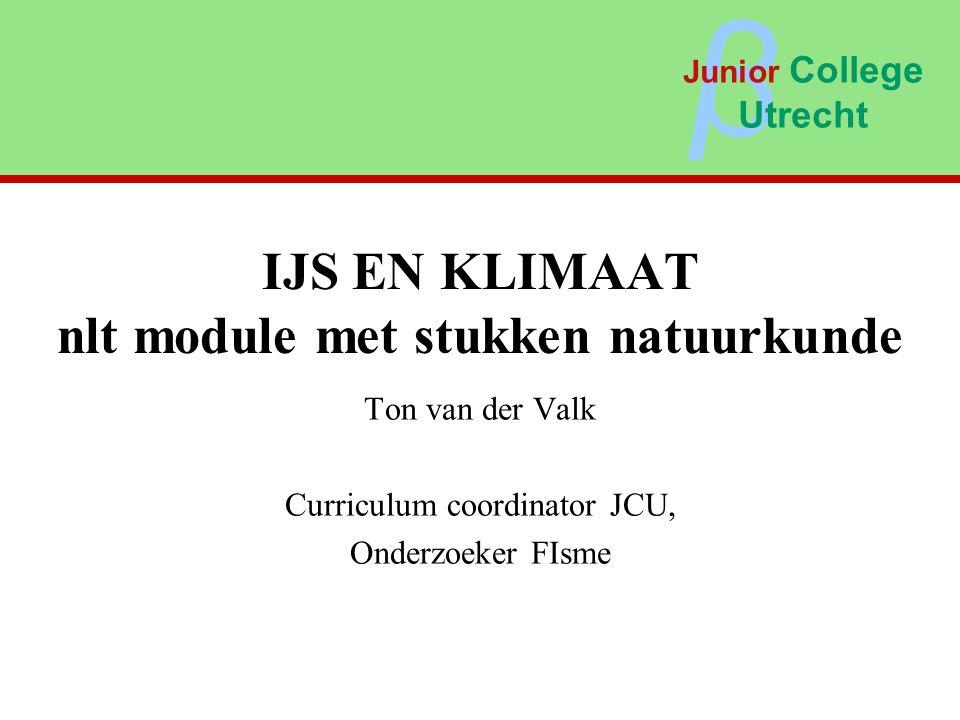 IJS EN KLIMAAT nlt module met stukken natuurkunde