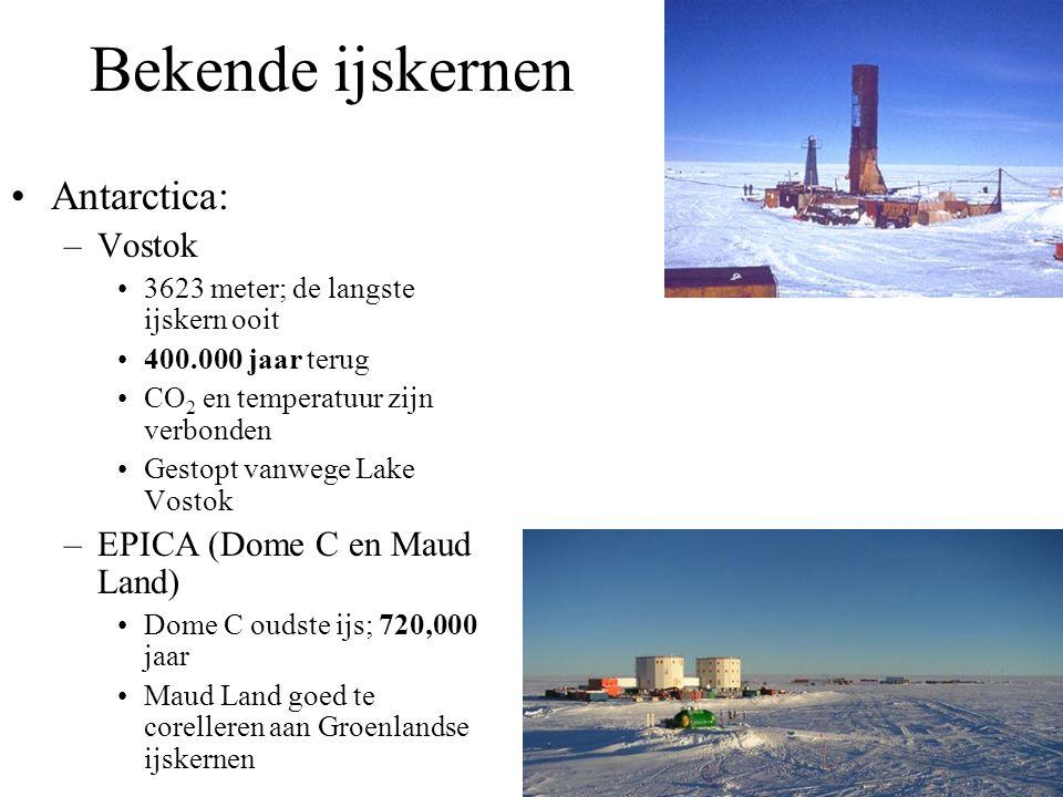 Bekende ijskernen Antarctica: Vostok EPICA (Dome C en Maud Land)