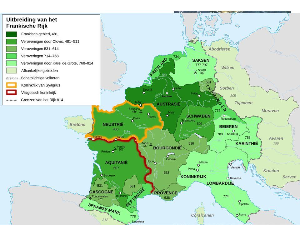 Het Frankenrijk Gebieduitbreiding door oorlog en moorden