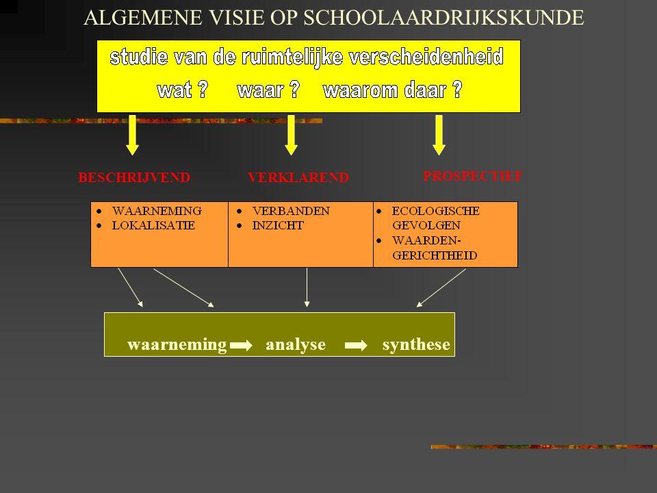 ALGEMENE VISIE OP SCHOOLAARDRIJKSKUNDE
