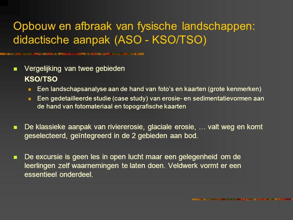 Opbouw en afbraak van fysische landschappen: didactische aanpak (ASO - KSO/TSO)
