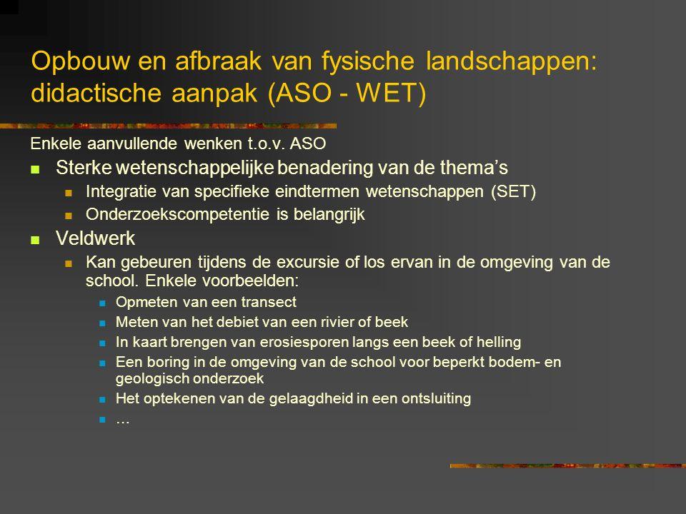 Opbouw en afbraak van fysische landschappen: didactische aanpak (ASO - WET)