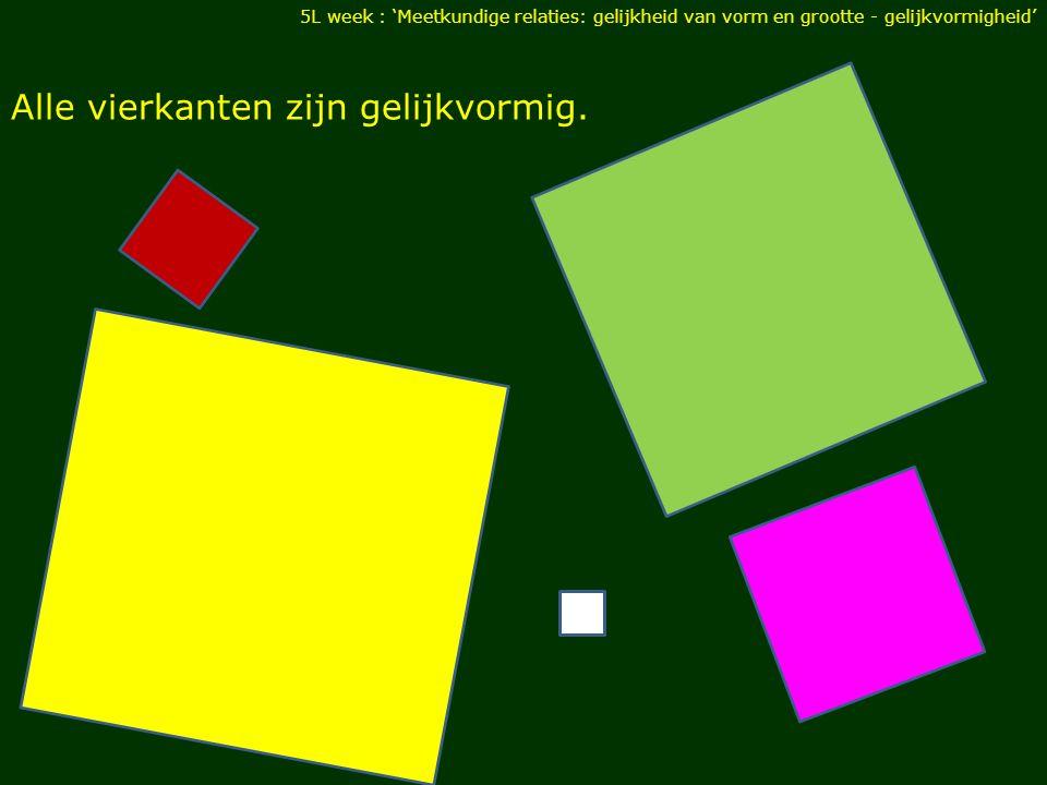 Alle vierkanten zijn gelijkvormig.