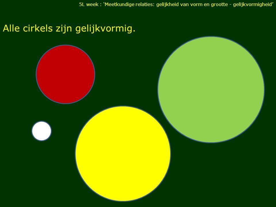 Alle cirkels zijn gelijkvormig.