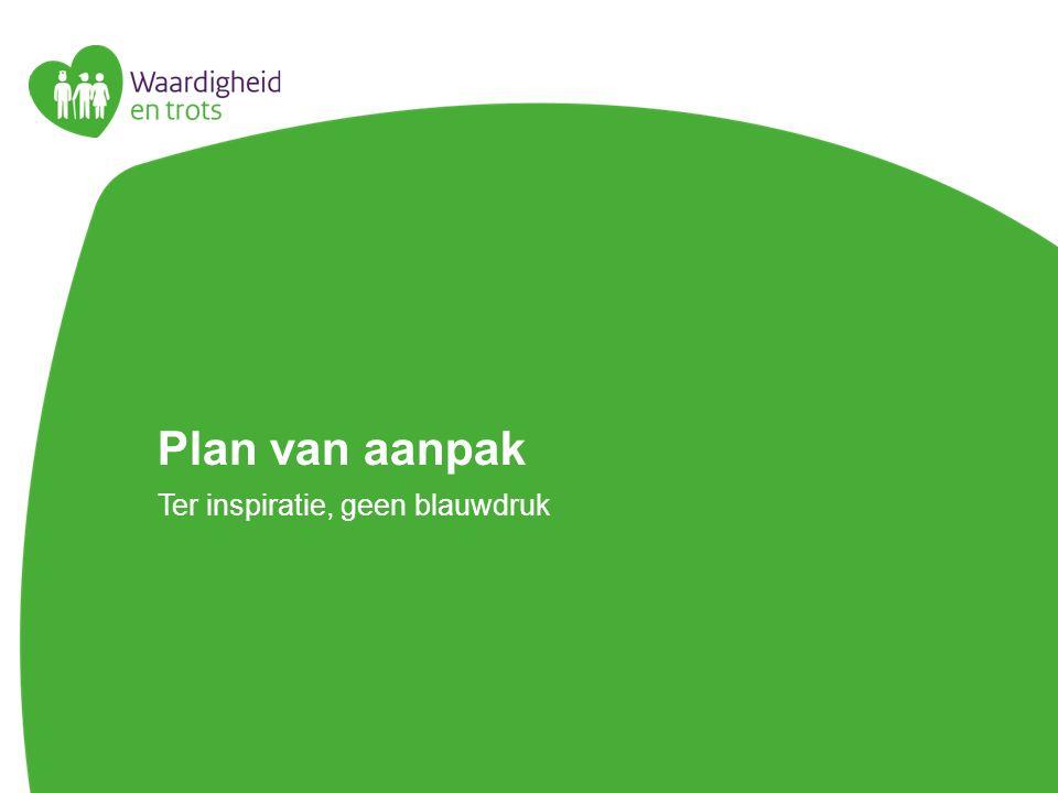 Plan van aanpak Ter inspiratie, geen blauwdruk